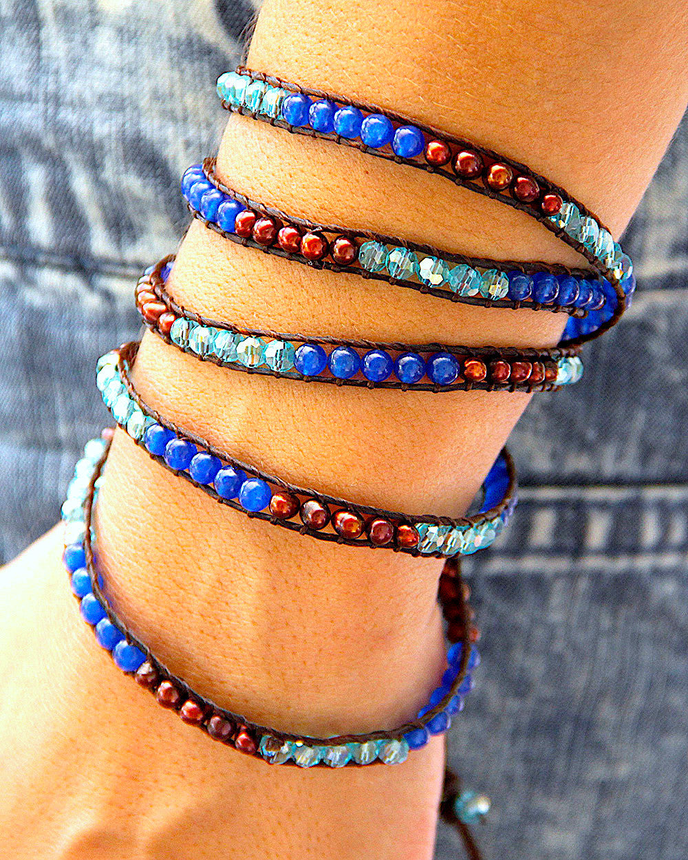 Blue River Wrap Bracelet