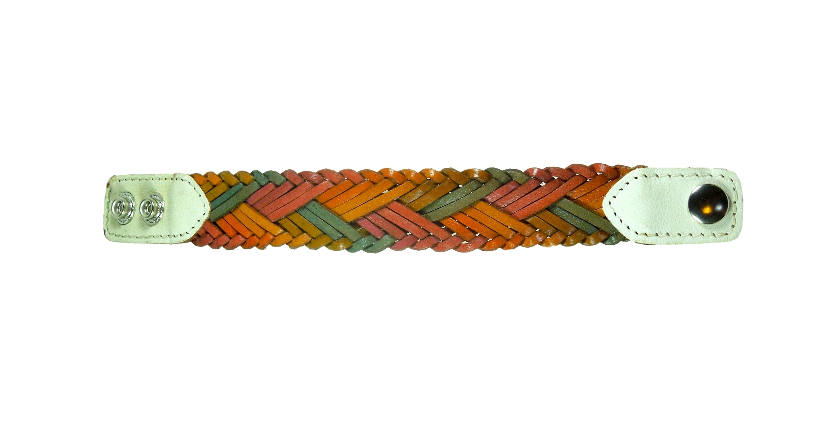 Earth Tones Braided Leather Bracelet