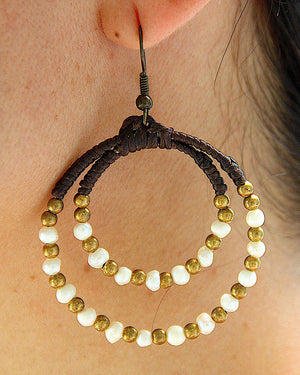 Double Loop Macrame Earrings