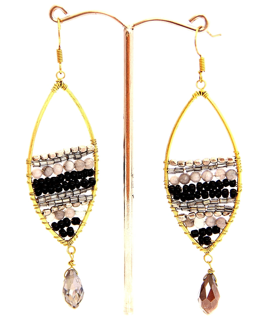 Riverside Teardrop Smokey Quartz Earrings