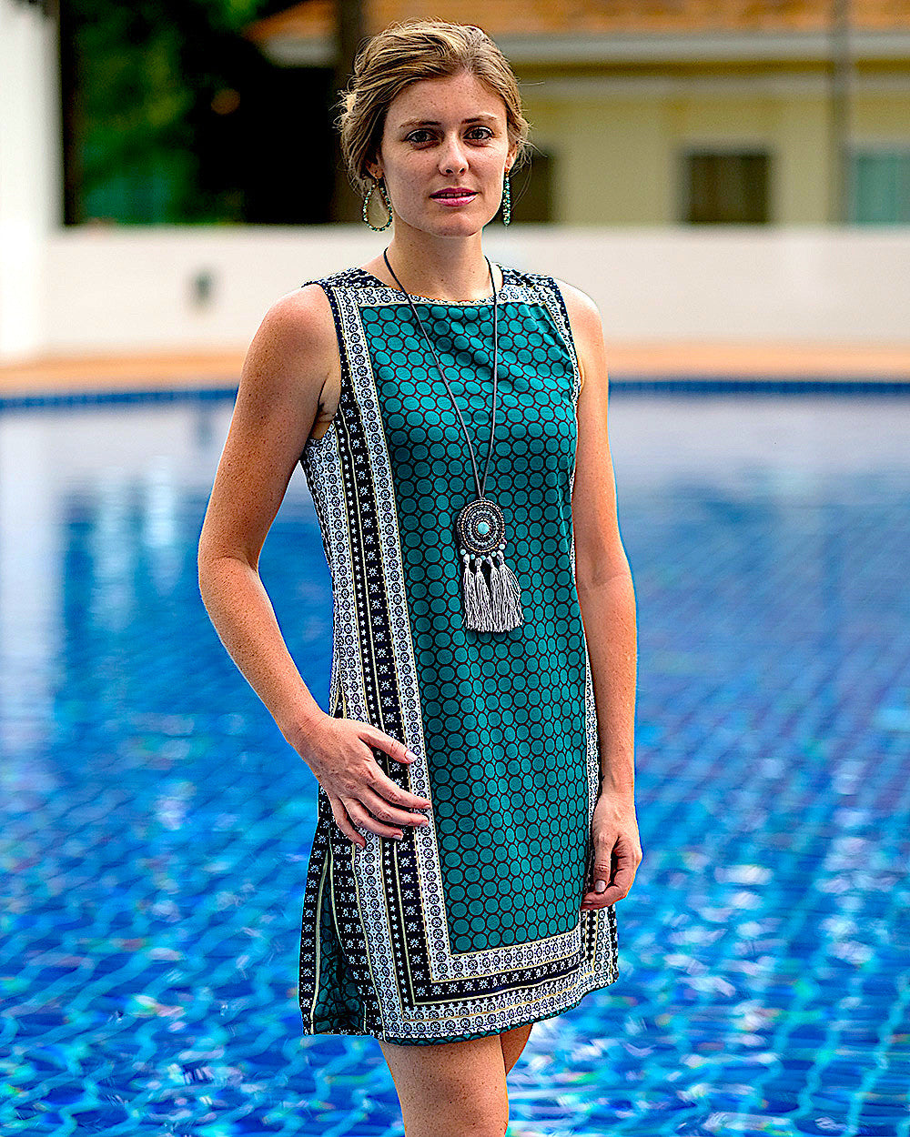 Emerald Cubic Dress