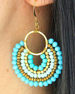 Endless Summer Blue Earrings