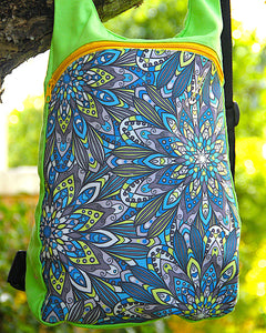 Mandala Flower Green Backpack