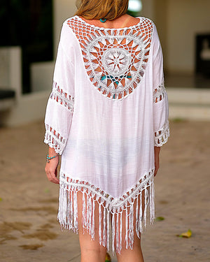 Full Moon White Kaftan