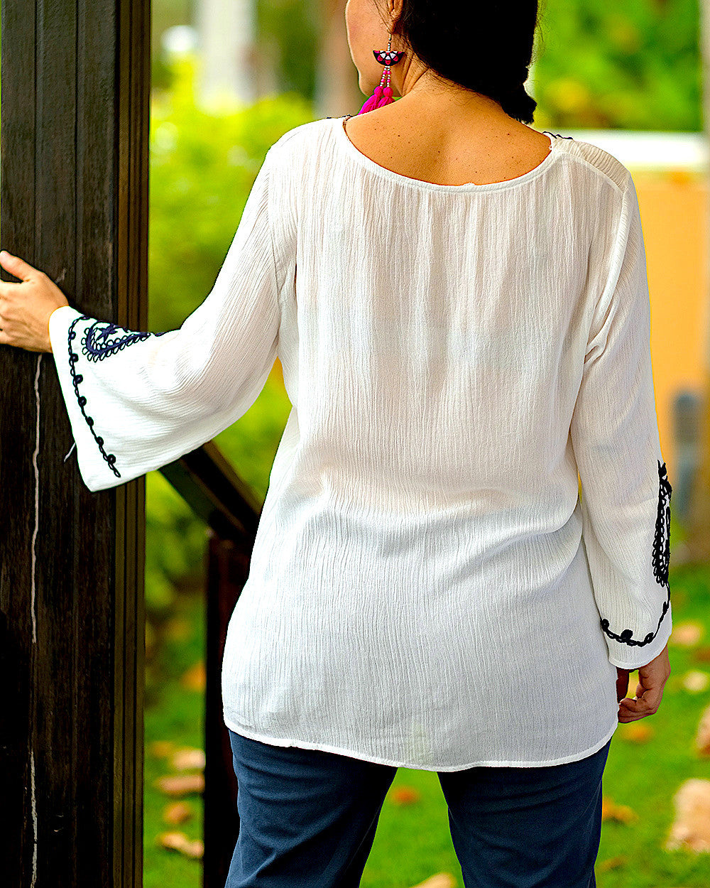 Heart White Blouse