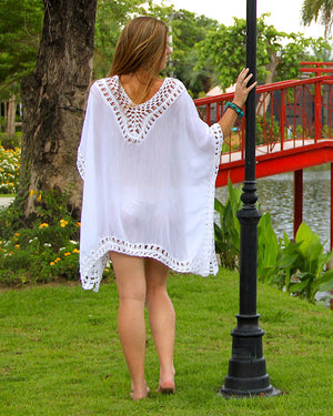 White Birds Eye Kaftan