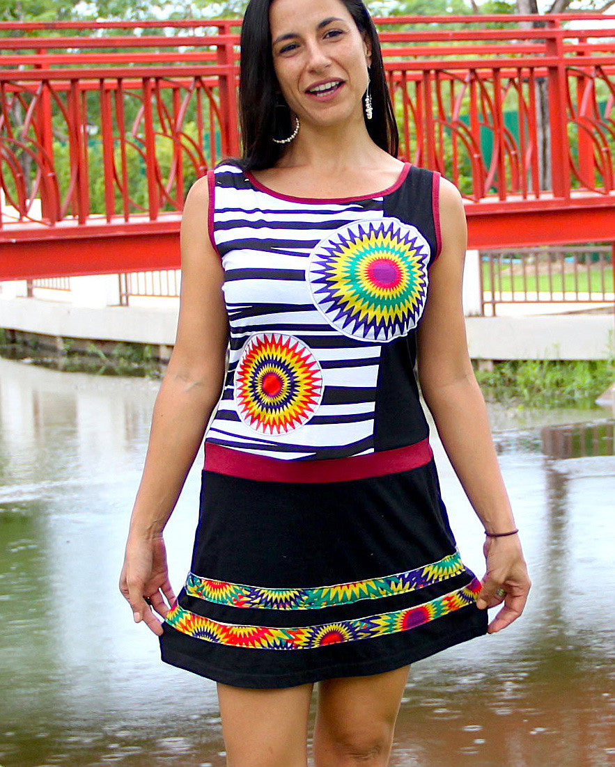 Mandala Zebra Dress