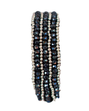 Macrame Night Beaded Bracelet