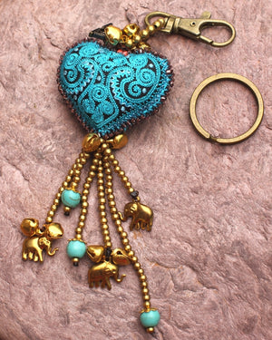 Heart Bell Key Chain