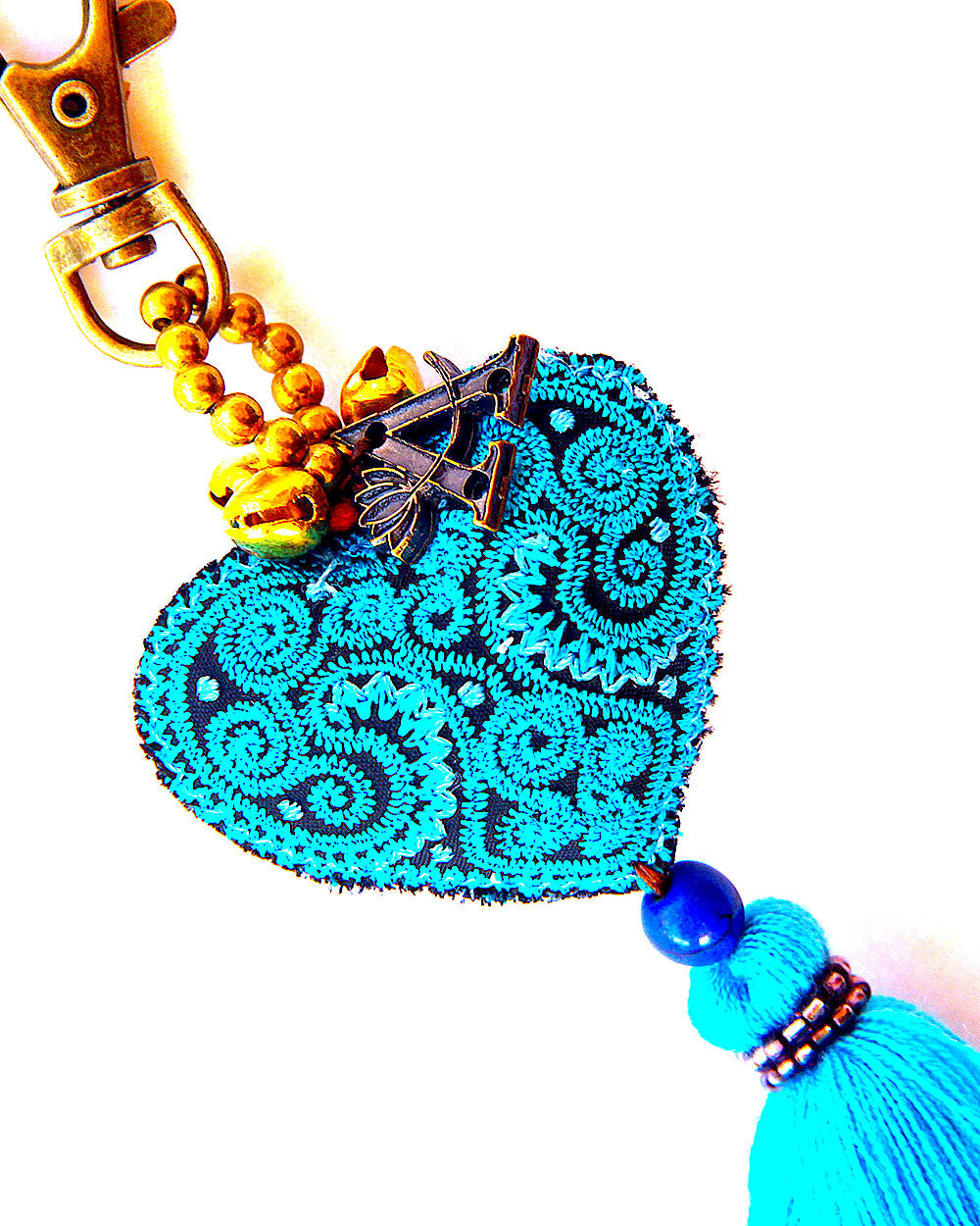 Blue Heart Key Chain