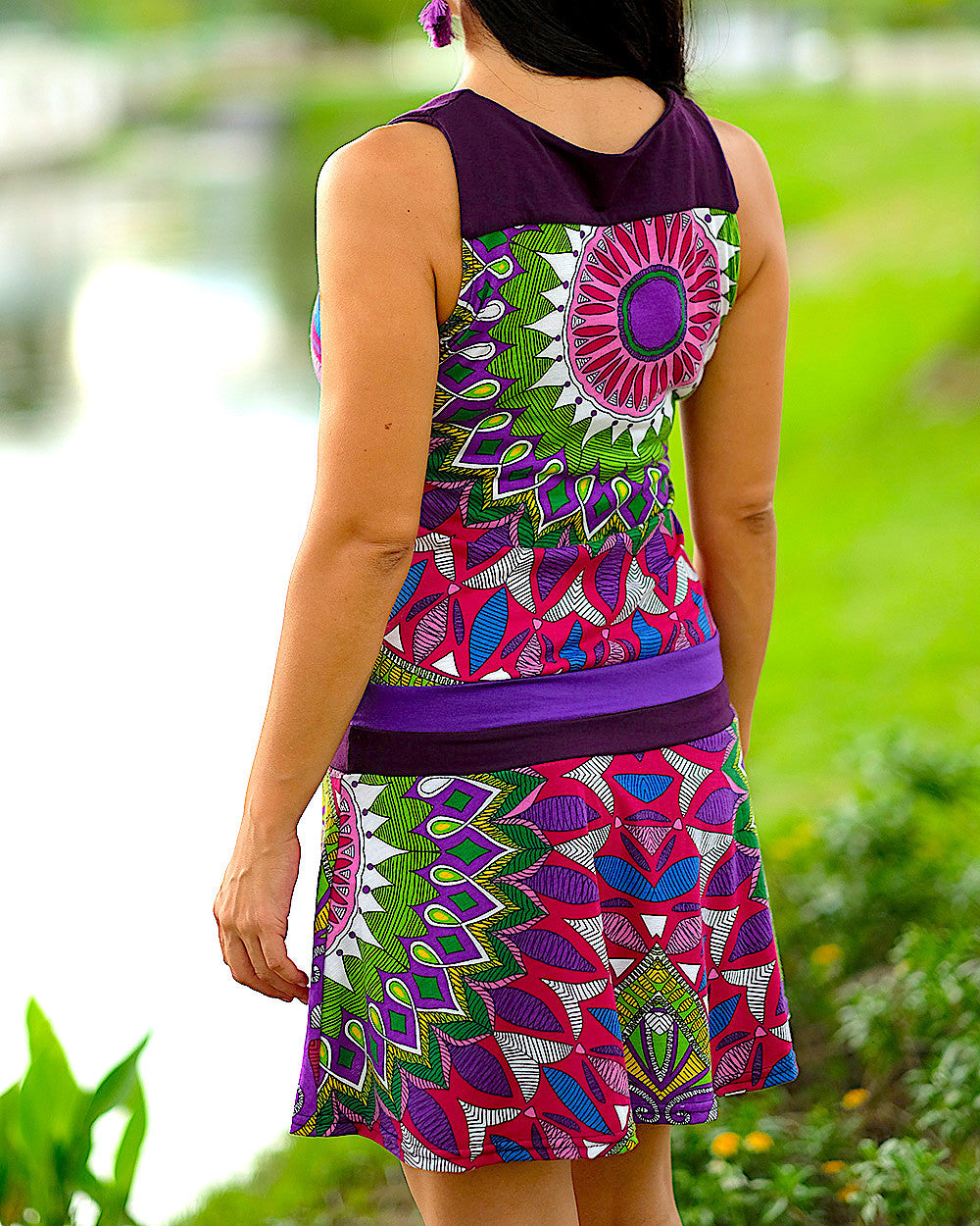 Black and Purple Kaleidoscope Dress