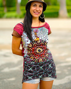 Mandala Flower Blouse
