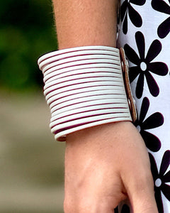 White Leather Strap Bracelet