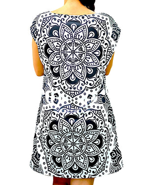 Black and White Mandala Dress