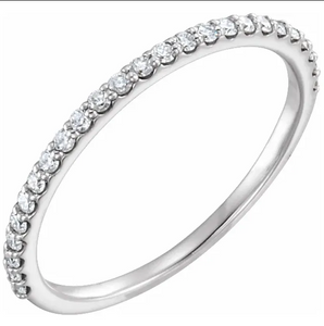0.25 TW Diamond Band in Platinum