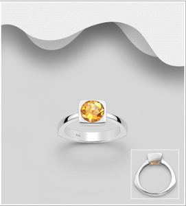 Square Bezel Citrine Ring