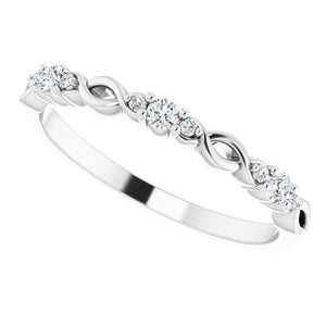 Diamond Infinity Band (Custom Order)