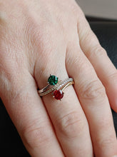 Chatham Ruby Diamond Bypass Ring