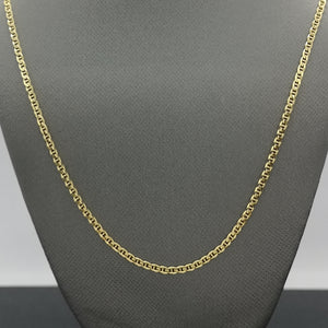"18"" Yellow Curb Chain in 10K Yellow Gold"
