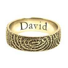 Custom Fingerprint Ring Band