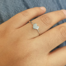 Dainty Heart Silver Ring