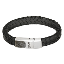 Custom Stainless Steel Leather Bracelet