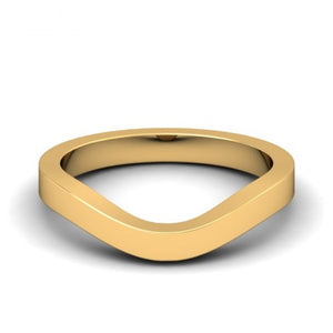 Flat Contour Wedding Band (Custom Order)
