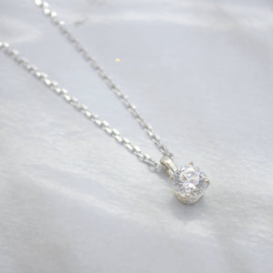 cubic zirconia stone necklace