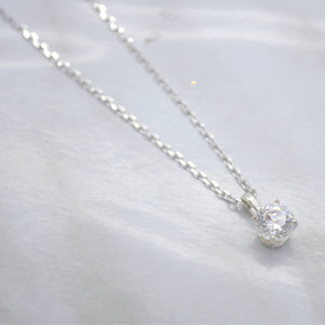 dainty cubic zirconia necklace