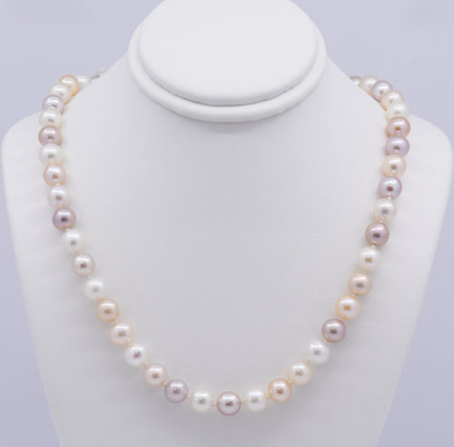 Neutral Multi-Coloured Freshwater Pearl Necklace