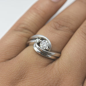 wedding ring diamond set