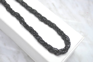 Black Spinel Woven Necklace