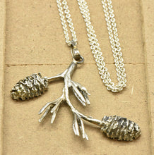 Pinecone Pendant Sterling Silver Necklace