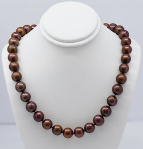 Chocolate Brown Freshwater Pearl Necklace