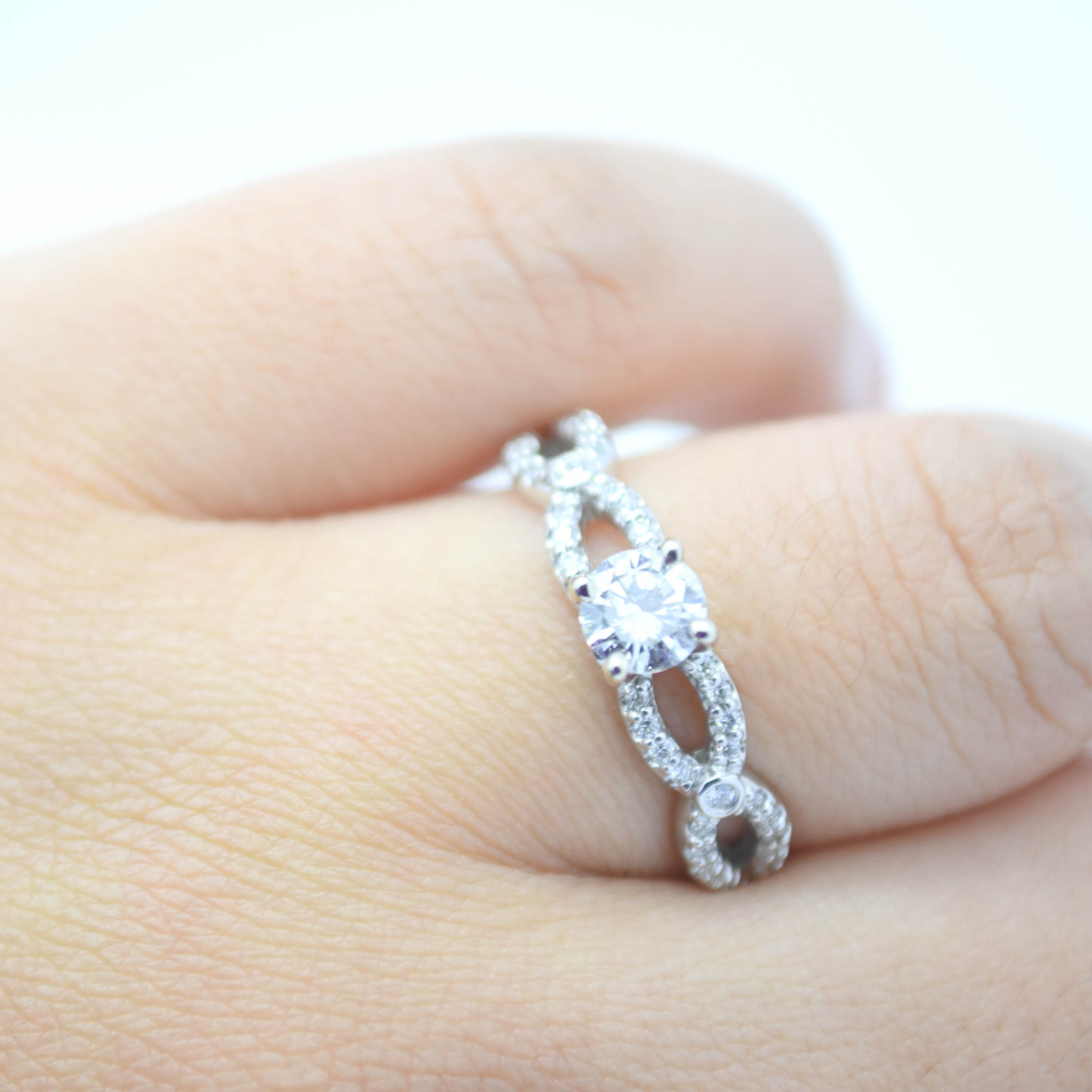 engagement setting diamond infinity rings pave youtube by watch michael platinum b