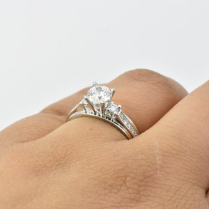 CHOOSE YOUR OWN STONE: Semi Set Diamond Engagement Ring with Melee