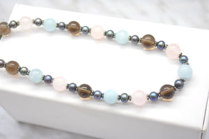 spring quartz necklace beads