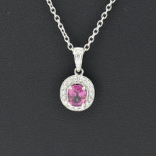 pink sapphire with diamond necklace sutton smithworks