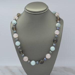 Beaded Quartz Necklace