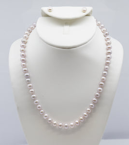 Pink Freshwater Pearl Strand Necklace