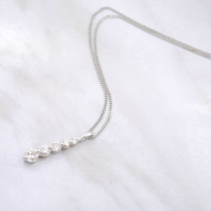 Graduated Diamond Pendant Necklace