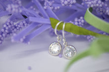 cz drop silver earrings sutton smithworks