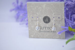 cz silver earrings sutton smithworks