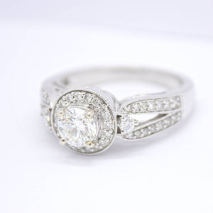 round diamond split shank engagement