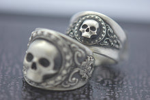 mini skull grim reaper ring