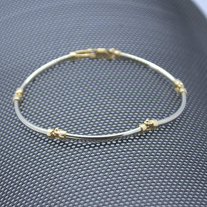 curve bar link gold bracelet sutton smithworks