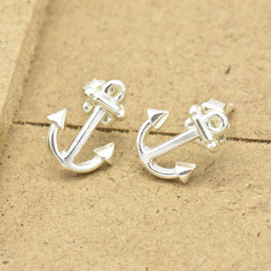 anchor silver stud earrings sutton smithworks