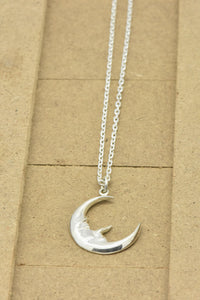 moon phase silver charm necklace sutton smithworks