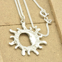 sun and moon charm necklace sutton smithworks