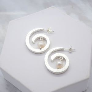 spiral earrings silver